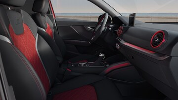 Interior front view of the Audi SQ2.